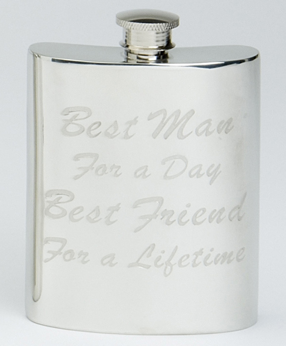 Best Man, Best Friend Hip Flask (30536)