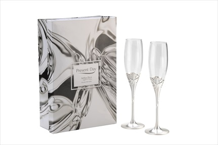 Champagne Flutes with Gift Box