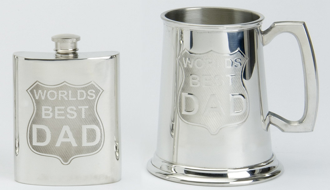 Father's Day Flask and Tankard