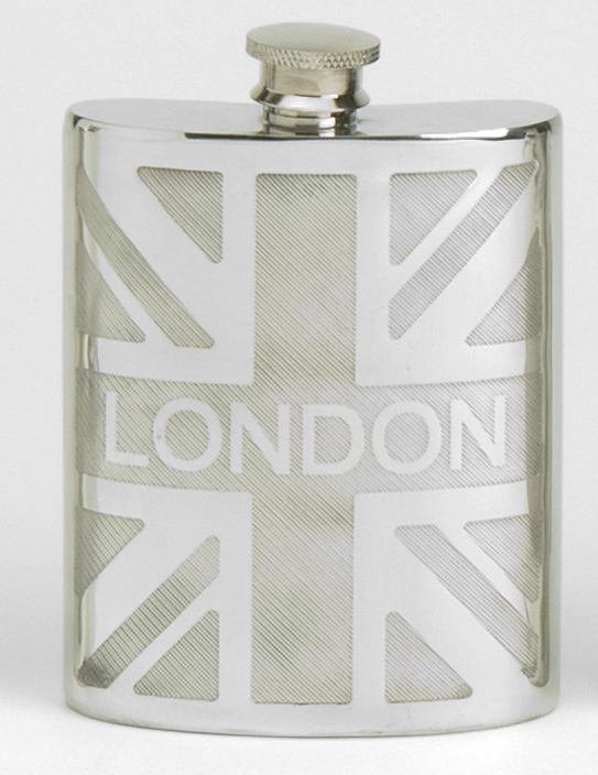 London Union Jack Hip Flask (30936)
